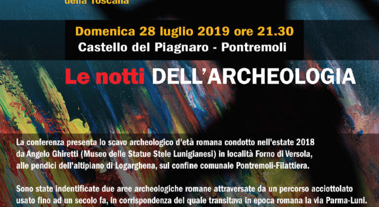 notti dell'archeologia a Pontremoli